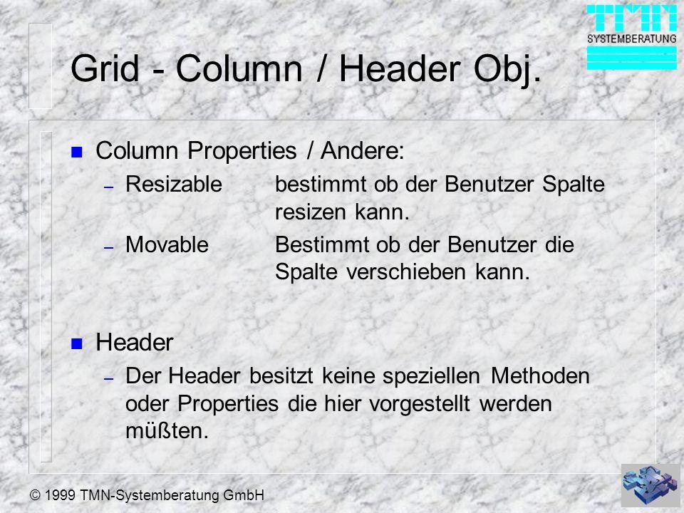 Grid - Column / Header Obj.