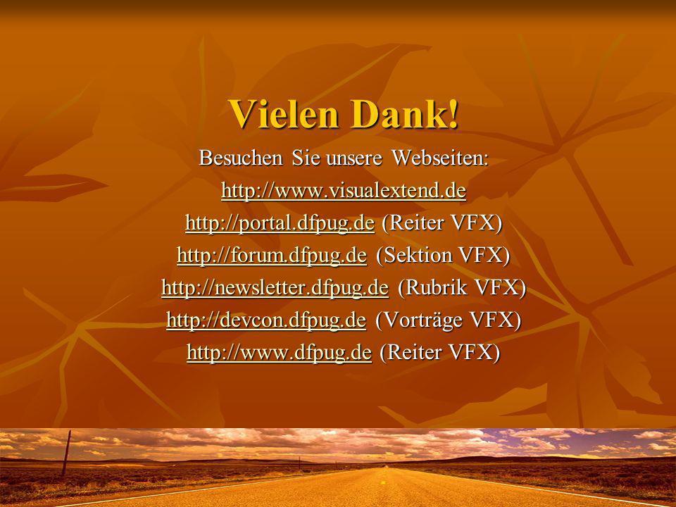 Vielen Dank! Besuchen Sie unsere Webseiten: http://www.visualextend.de