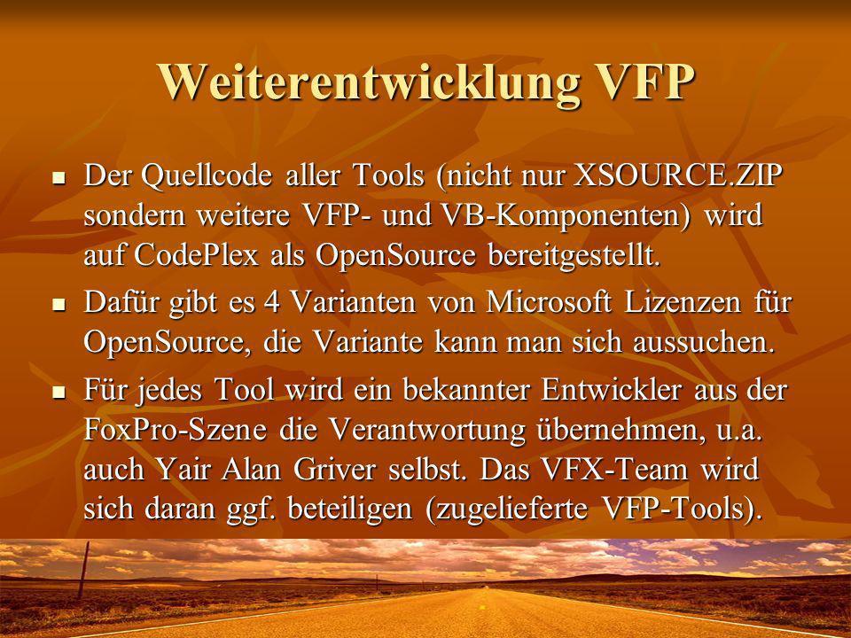 Weiterentwicklung VFP