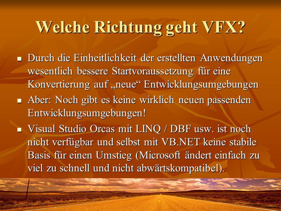 Welche Richtung geht VFX