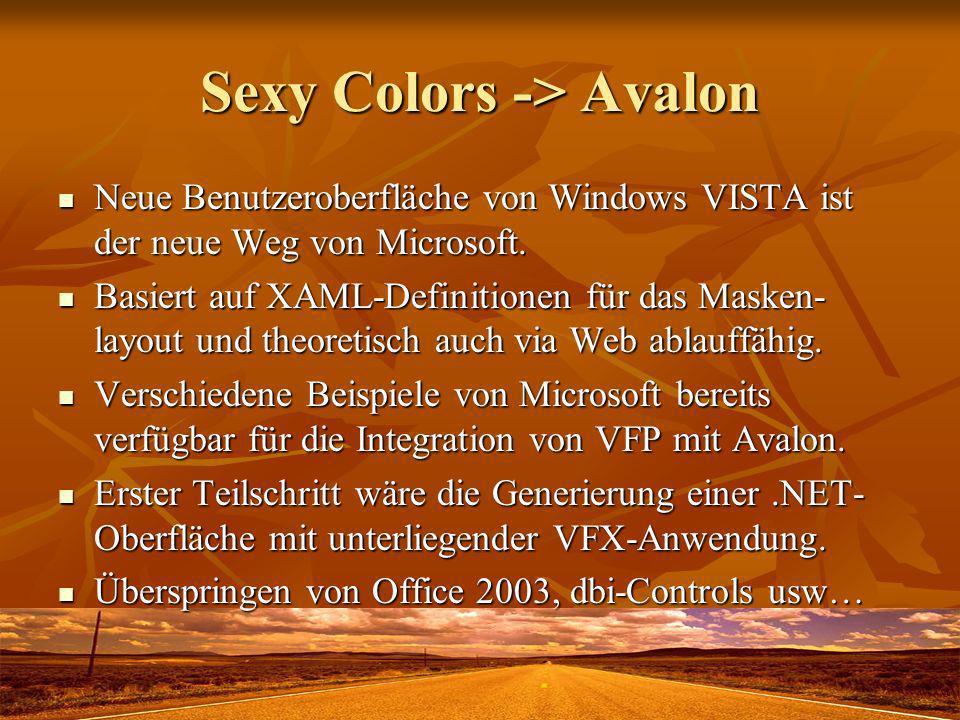 Sexy Colors -> Avalon