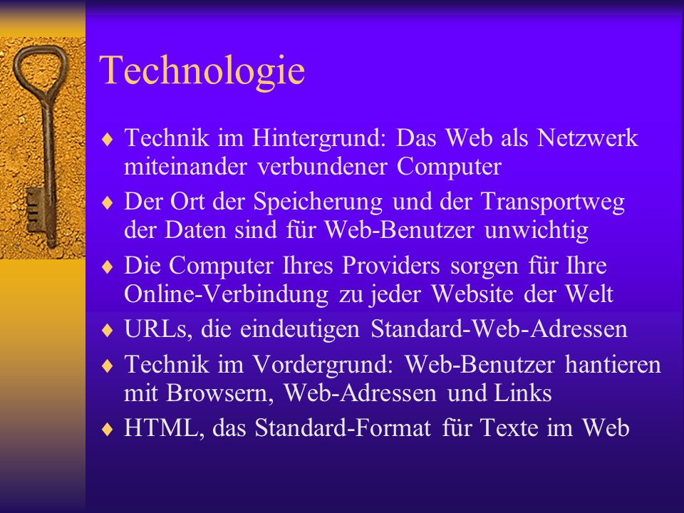 Technologie Technik im Hintergrund: Das Web als Netzwerk miteinander verbundener Computer.