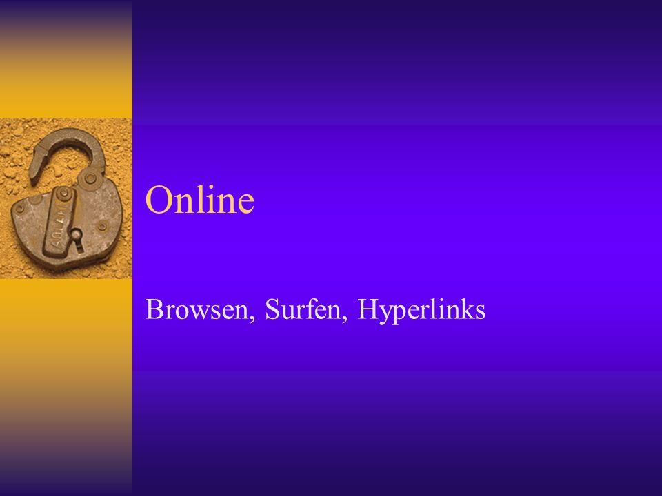 Browsen, Surfen, Hyperlinks