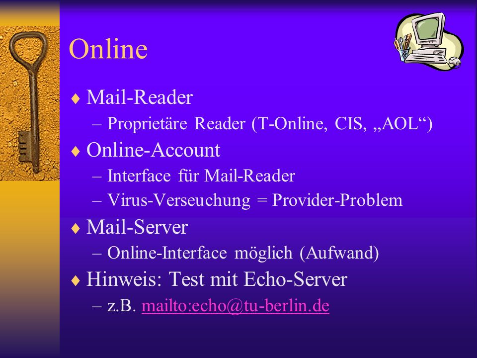 Online Mail-Reader Online-Account Mail-Server
