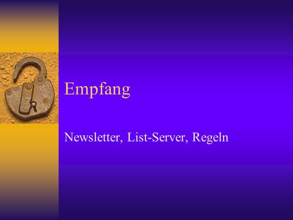 Newsletter, List-Server, Regeln