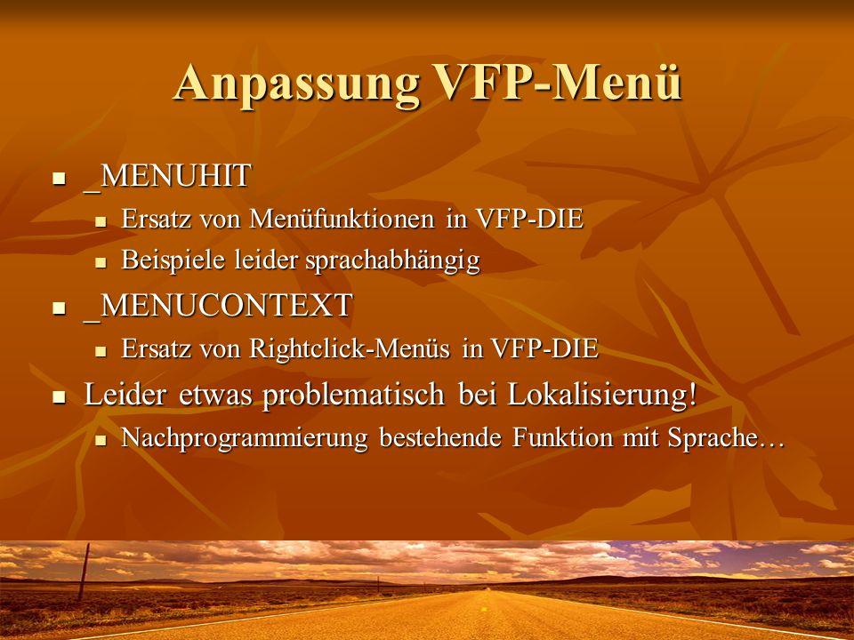 Anpassung VFP-Menü _MENUHIT _MENUCONTEXT