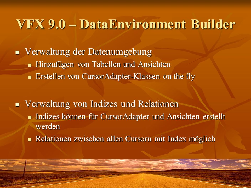 VFX 9.0 – DataEnvironment Builder