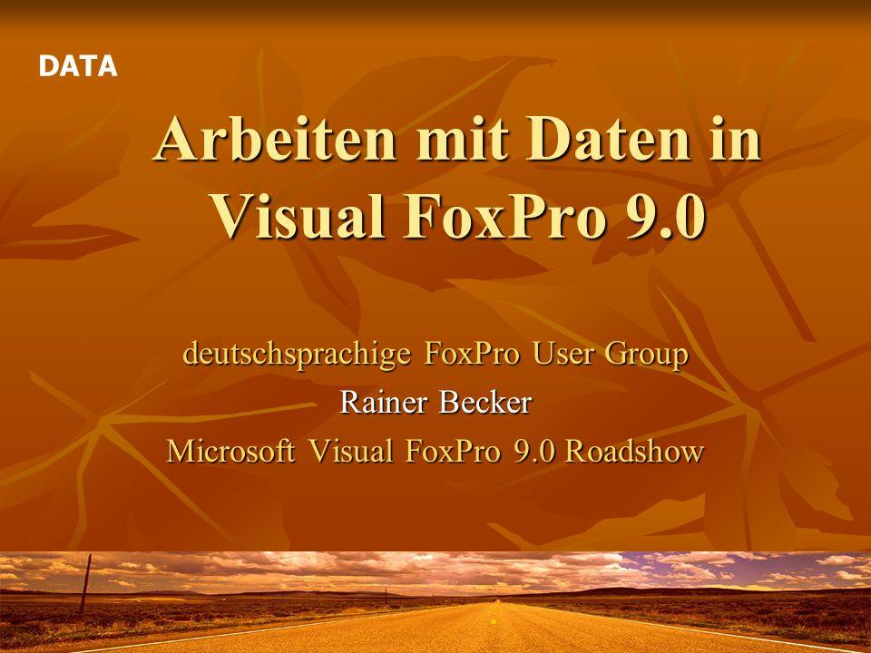Arbeiten mit Daten in Visual FoxPro 9.0