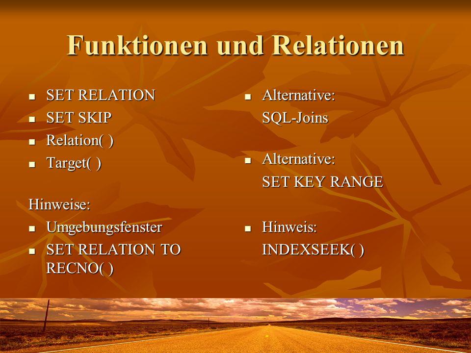Funktionen und Relationen