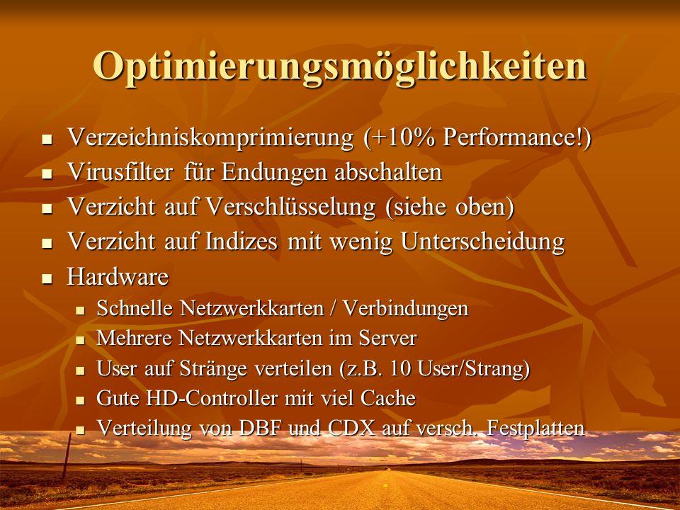Optimierungsmöglichkeiten