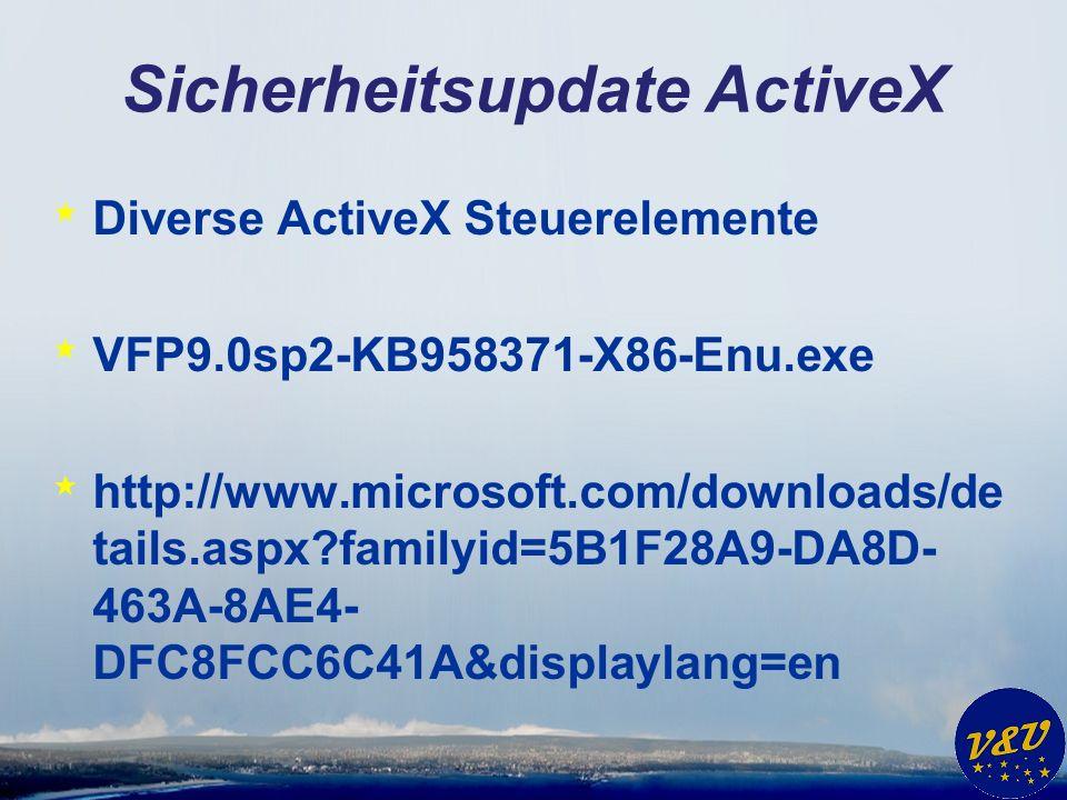Sicherheitsupdate ActiveX