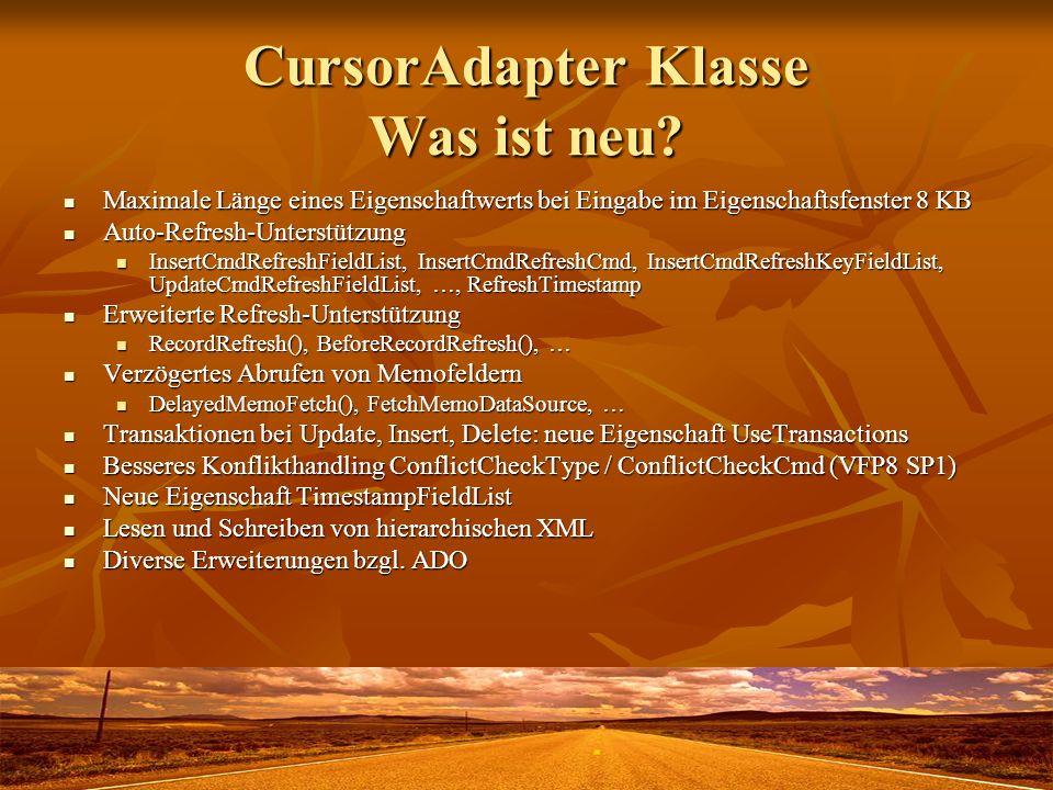 CursorAdapter Klasse Was ist neu
