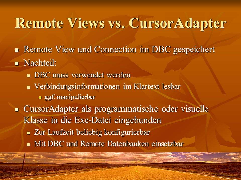 Remote Views vs. CursorAdapter