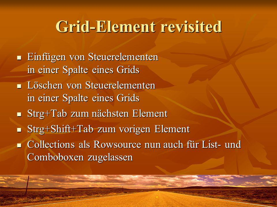 Grid-Element revisited