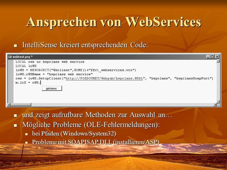Ansprechen von WebServices
