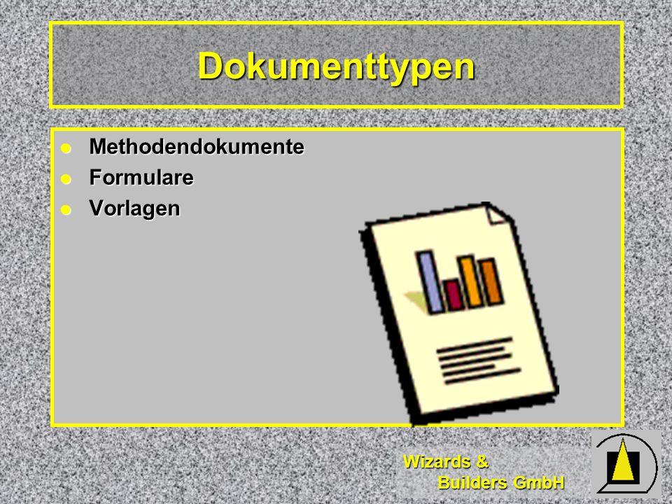 Dokumenttypen Methodendokumente Formulare Vorlagen