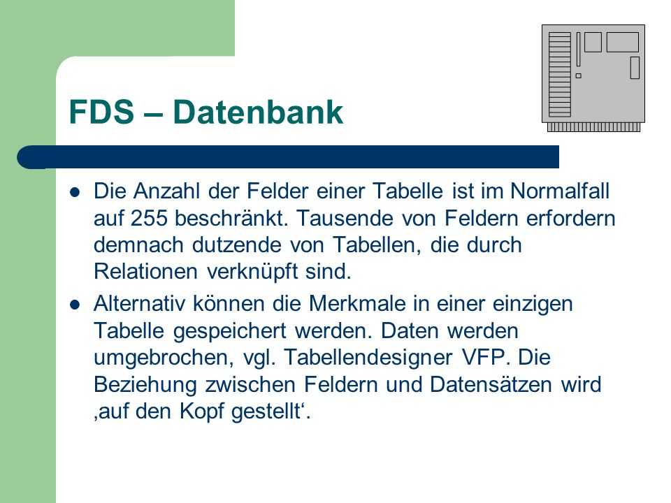FDS – Datenbank