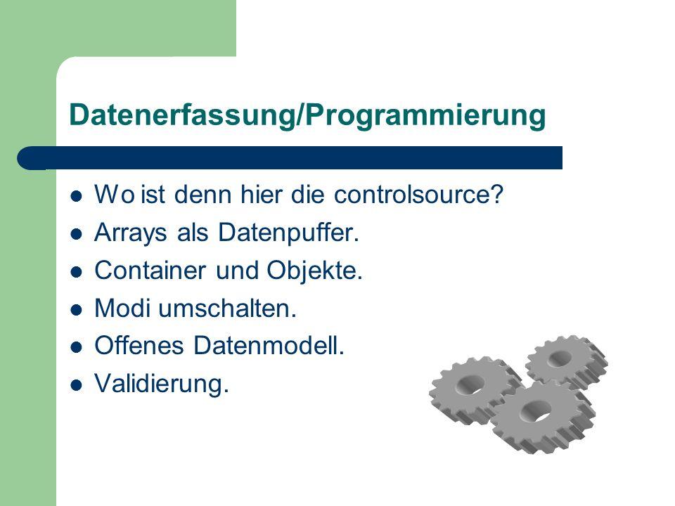 Datenerfassung/Programmierung