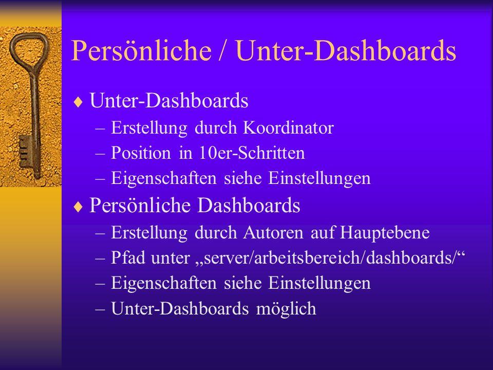 Persönliche / Unter-Dashboards