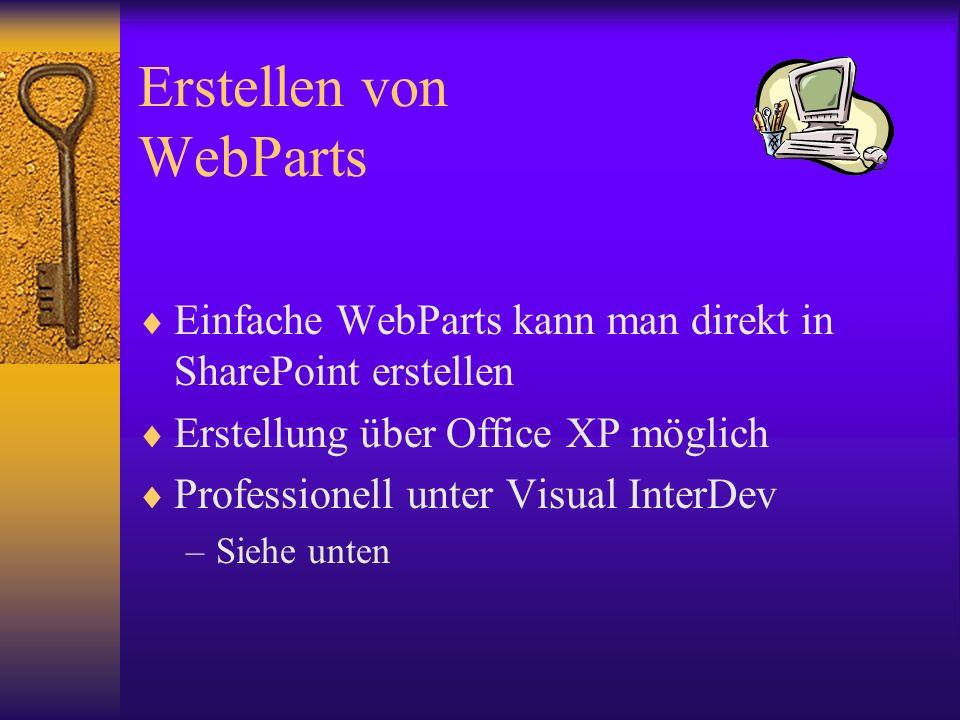 Erstellen von WebParts