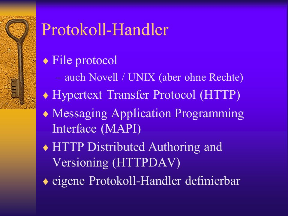 Protokoll-Handler File protocol Hypertext Transfer Protocol (HTTP)
