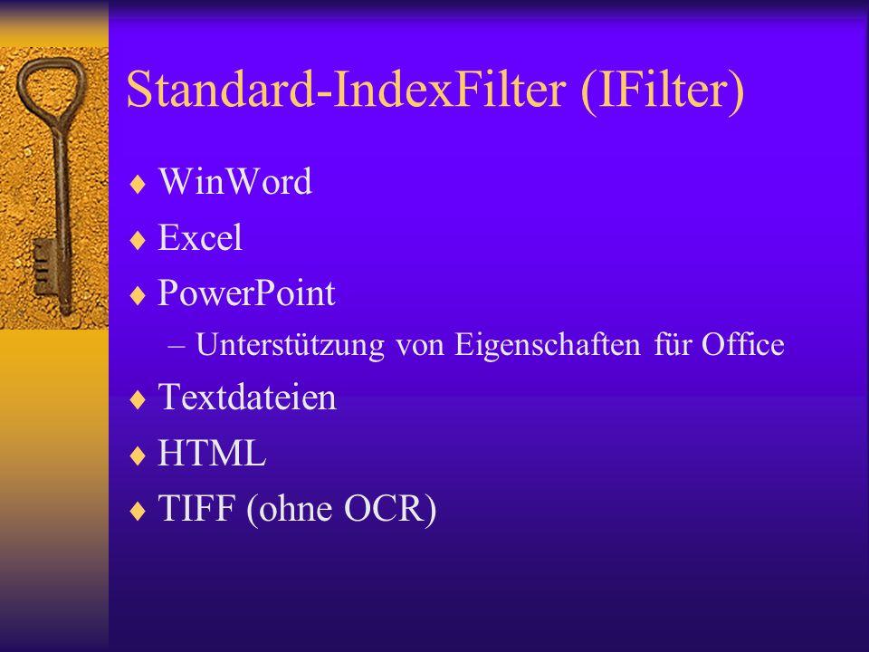 Standard-IndexFilter (IFilter)