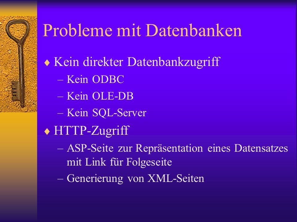 Probleme mit Datenbanken