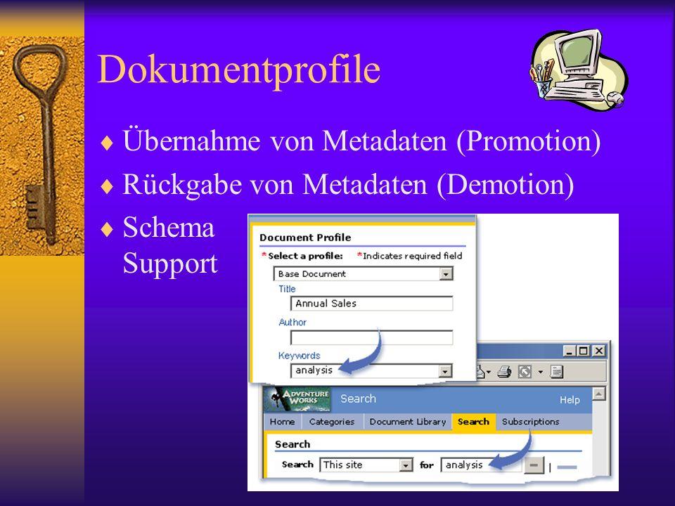 Dokumentprofile Übernahme von Metadaten (Promotion)