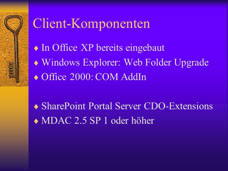 Client-Komponenten In Office XP bereits eingebaut