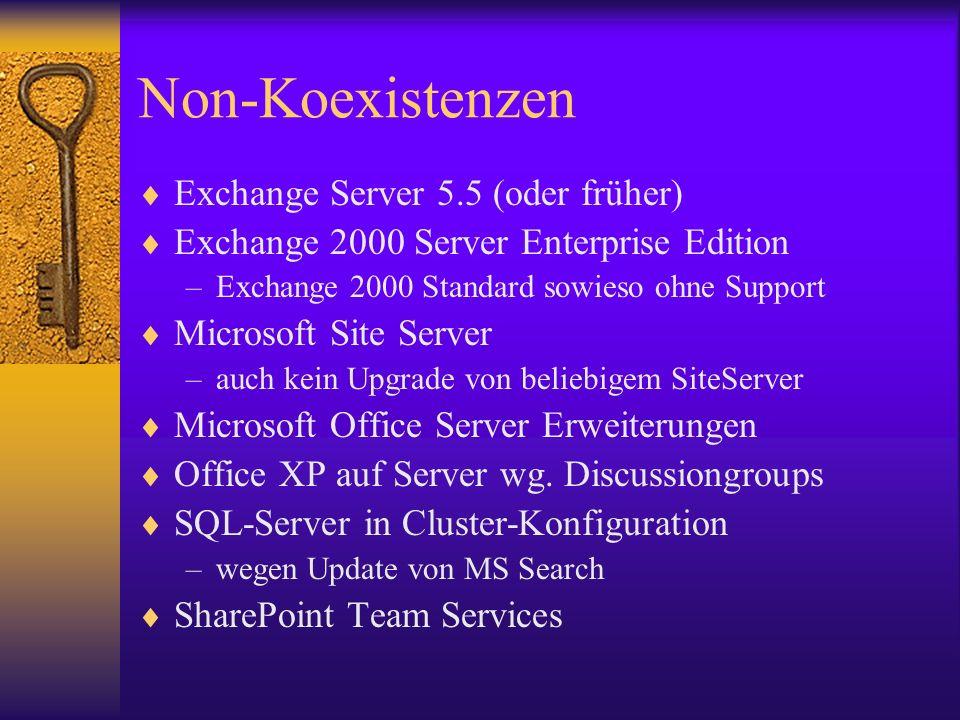 Non-Koexistenzen Exchange Server 5.5 (oder früher)