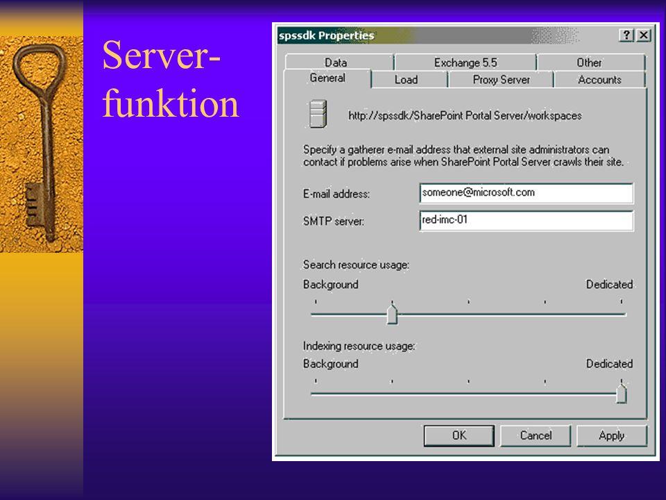 Server- funktion