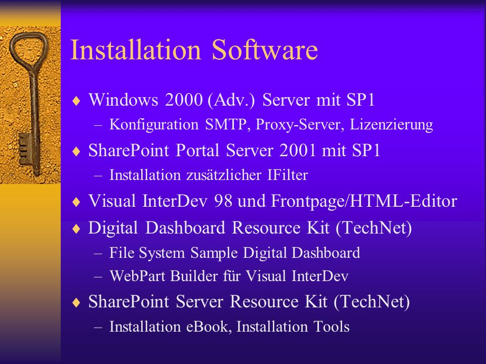 Installation Software