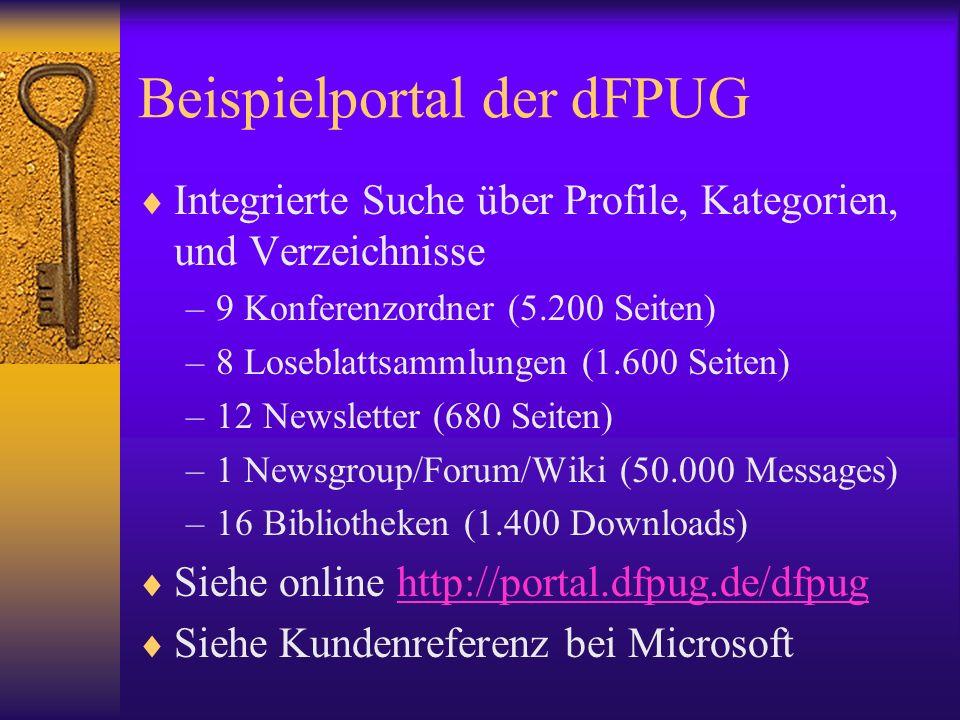 Beispielportal der dFPUG