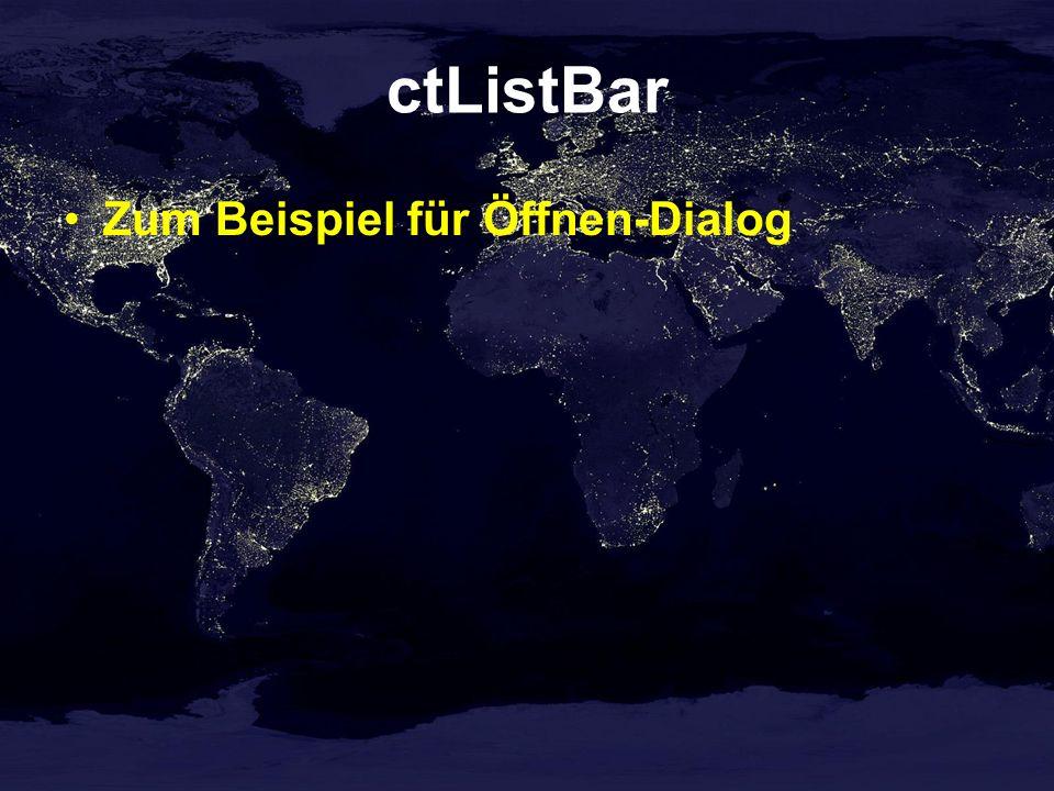 ctListBar Zum Beispiel für Öffnen-Dialog