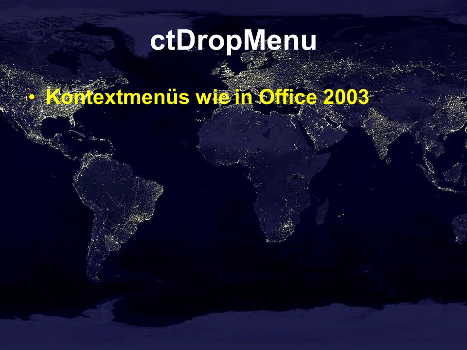 ctDropMenu Kontextmenüs wie in Office 2003