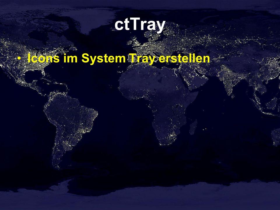 ctTray Icons im System Tray erstellen