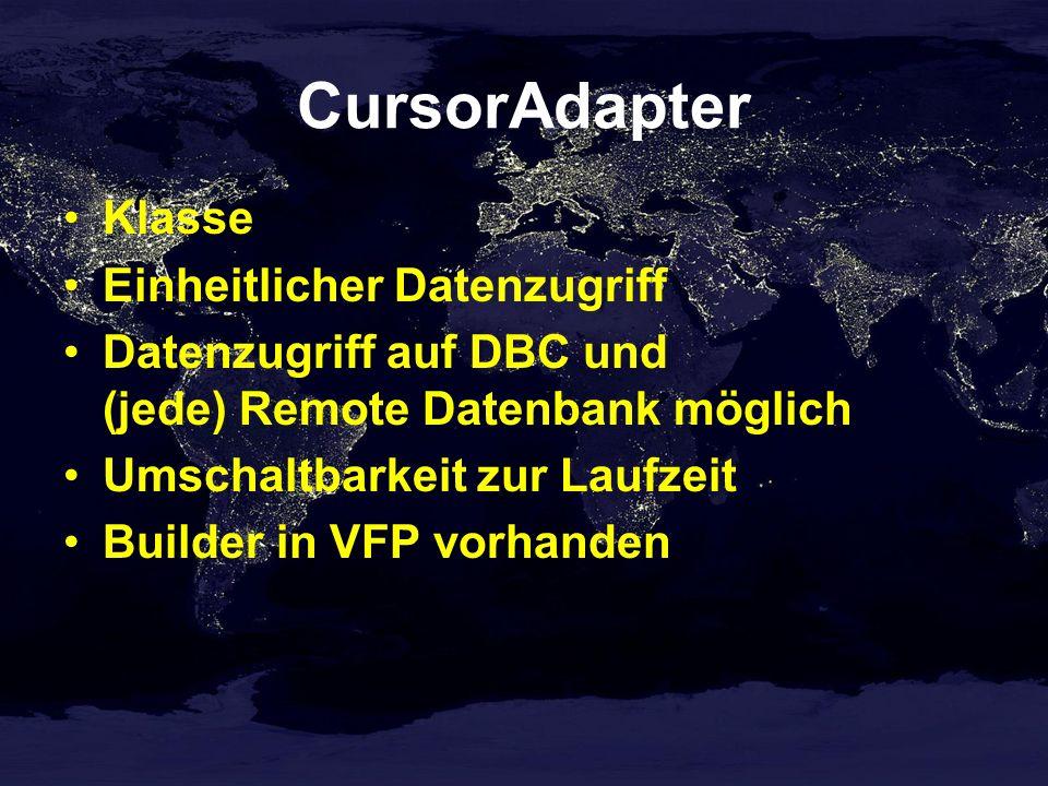 CursorAdapter Klasse Einheitlicher Datenzugriff