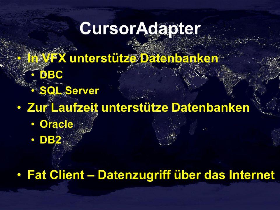 CursorAdapter In VFX unterstütze Datenbanken