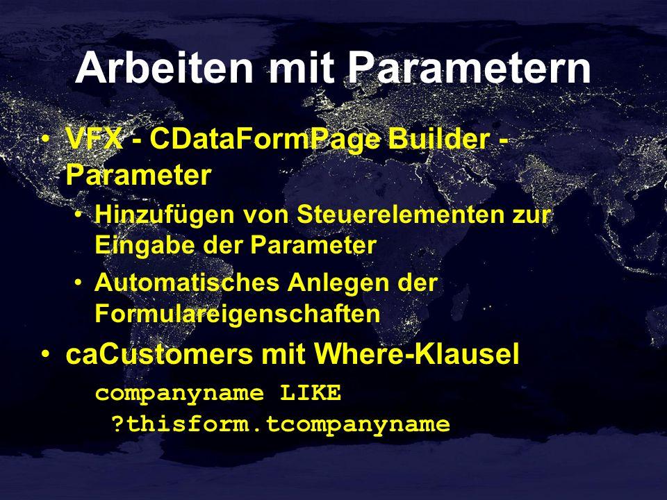 Arbeiten mit Parametern