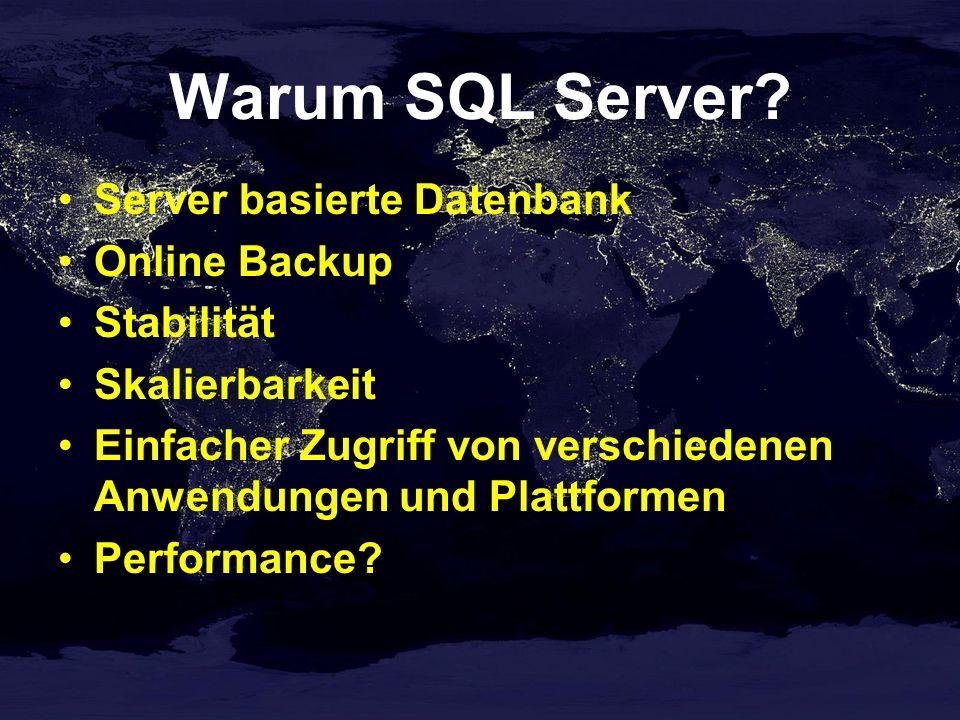 Warum SQL Server Server basierte Datenbank Online Backup Stabilität
