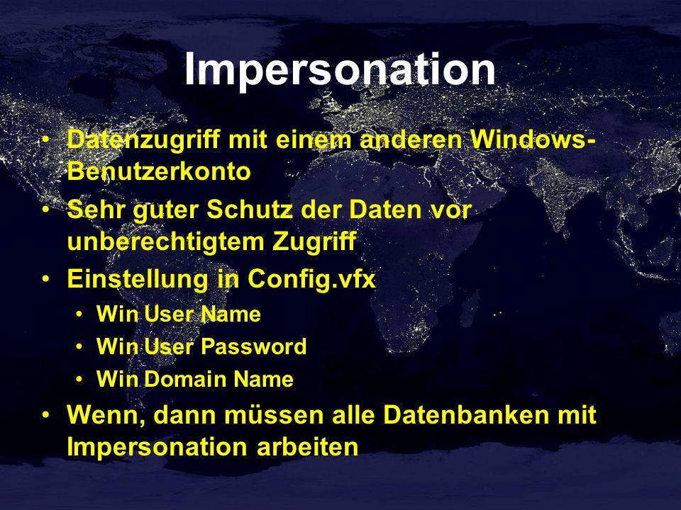Impersonation Datenzugriff mit einem anderen Windows-Benutzerkonto