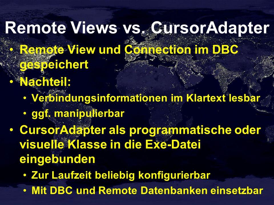 Remote Views vs. CursorAdapter