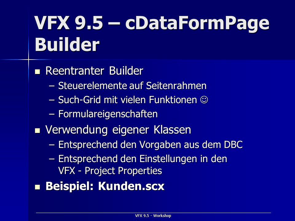 VFX 9.5 – cDataFormPage Builder