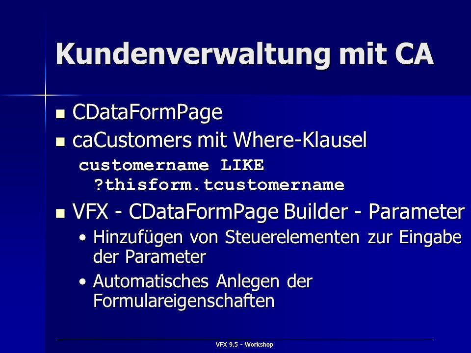 Kundenverwaltung mit CA