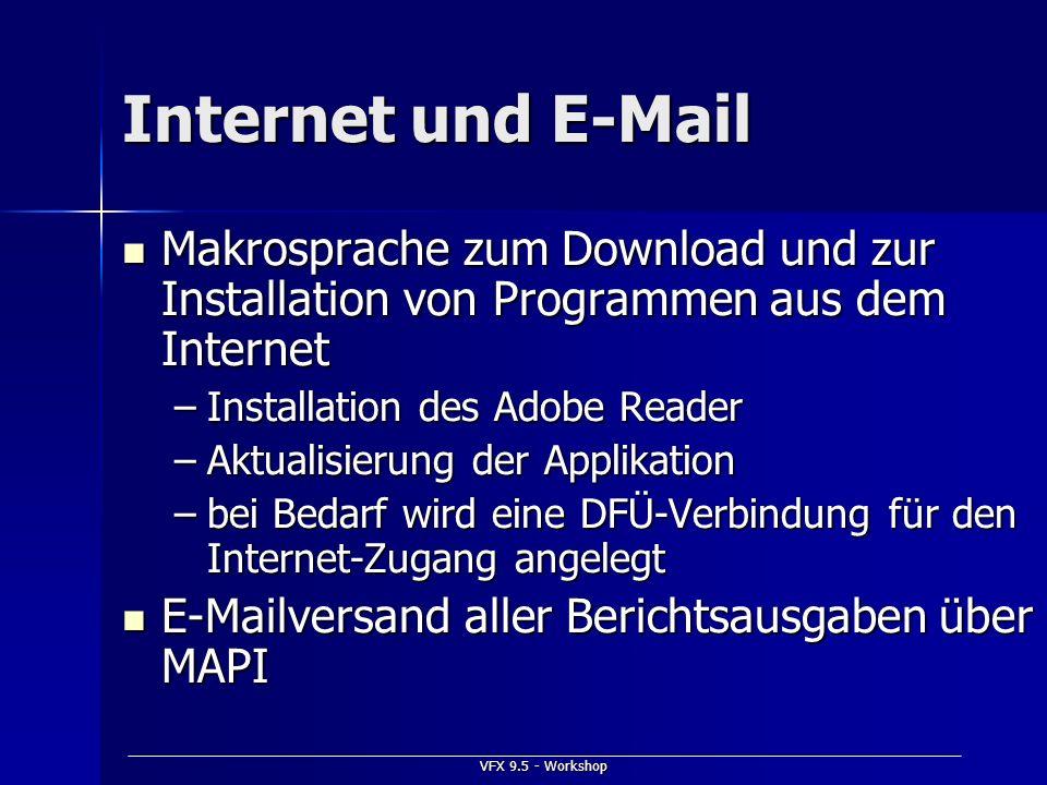 Internet und E-Mail Makrosprache zum Download und zur Installation von Programmen aus dem Internet.