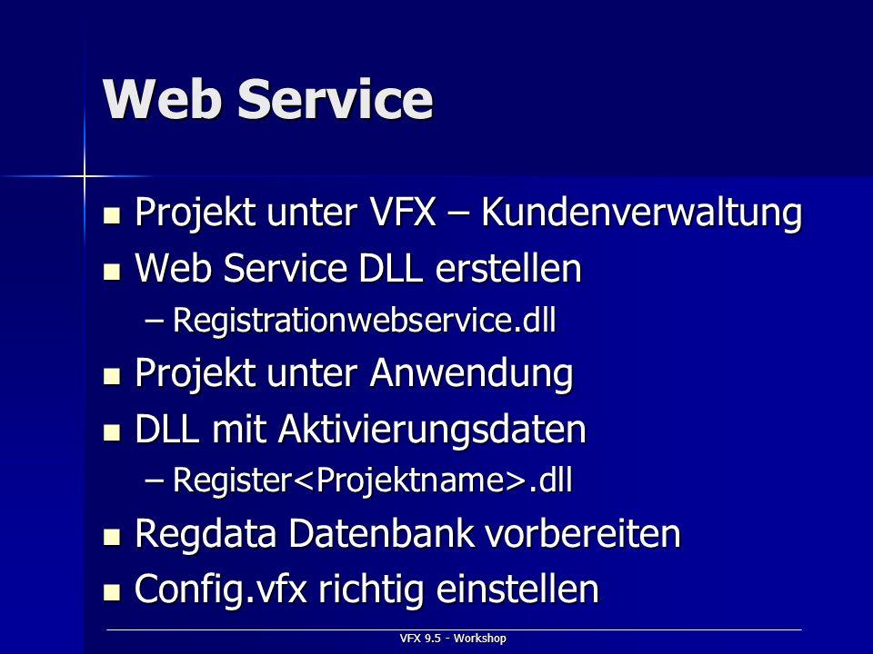 Web Service Projekt unter VFX – Kundenverwaltung