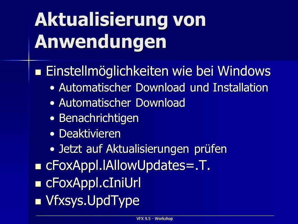 Aktualisierung von Anwendungen
