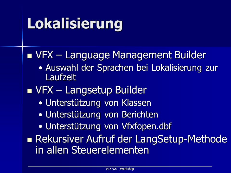 Lokalisierung VFX – Language Management Builder