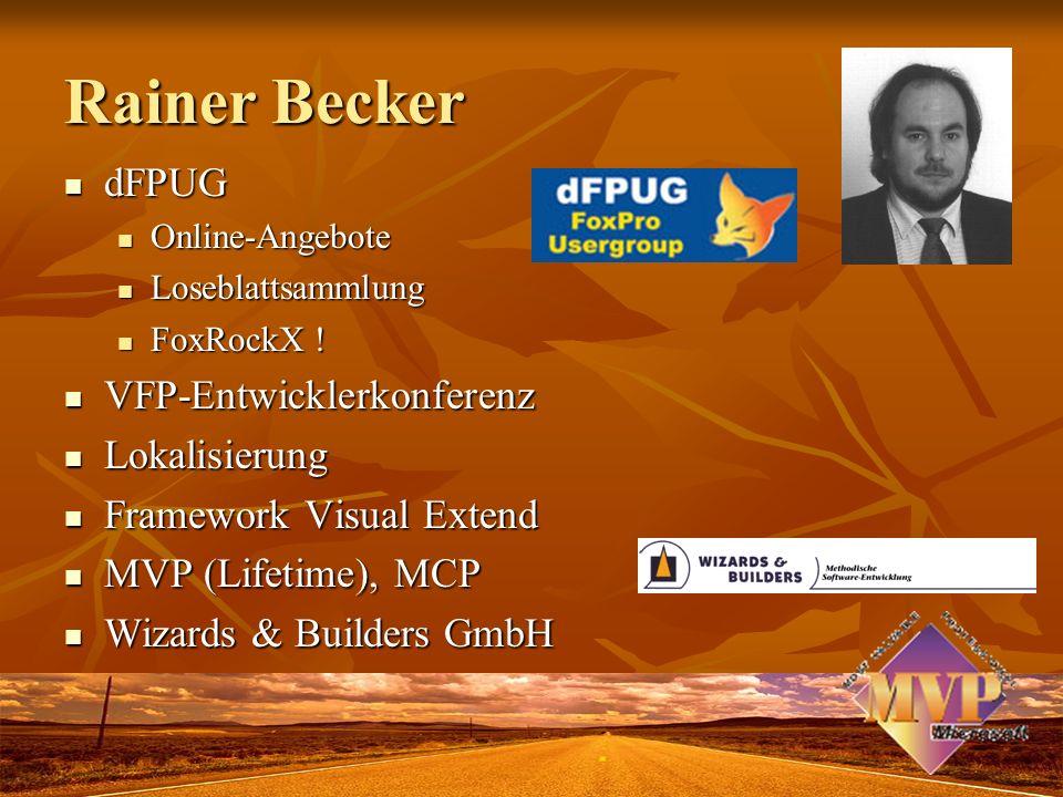 Rainer Becker dFPUG VFP-Entwicklerkonferenz Lokalisierung