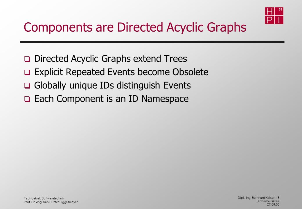 Components are Directed Acyclic Graphs